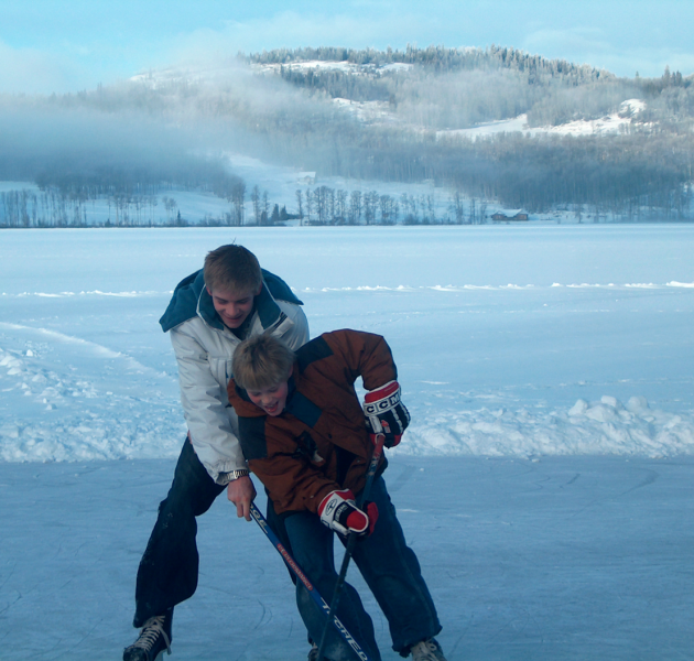 Skating at Round Lake Resort
